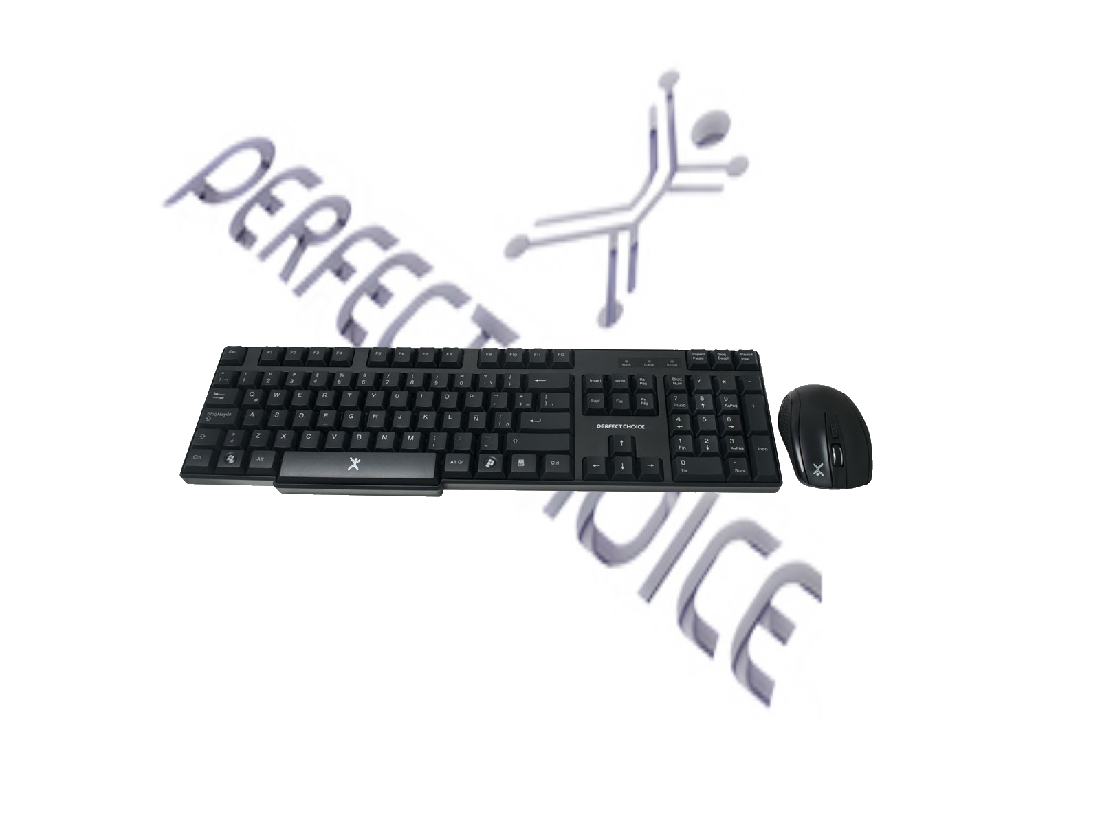 KIT TECLADO Y MOUSE INALAMBRICO PC-200994 PERFECT CHOICE