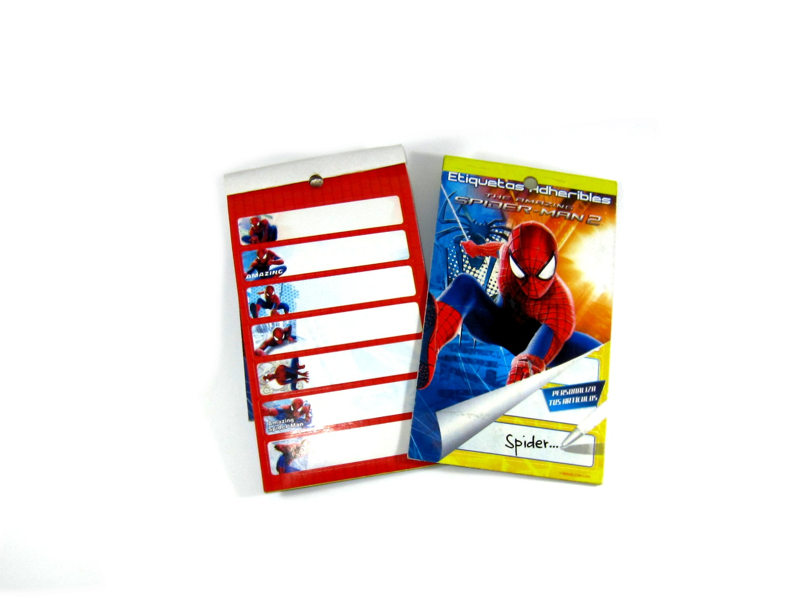 BLOCK ETIQUETA ADHERIBLE SPIDERMAN GRANMARK