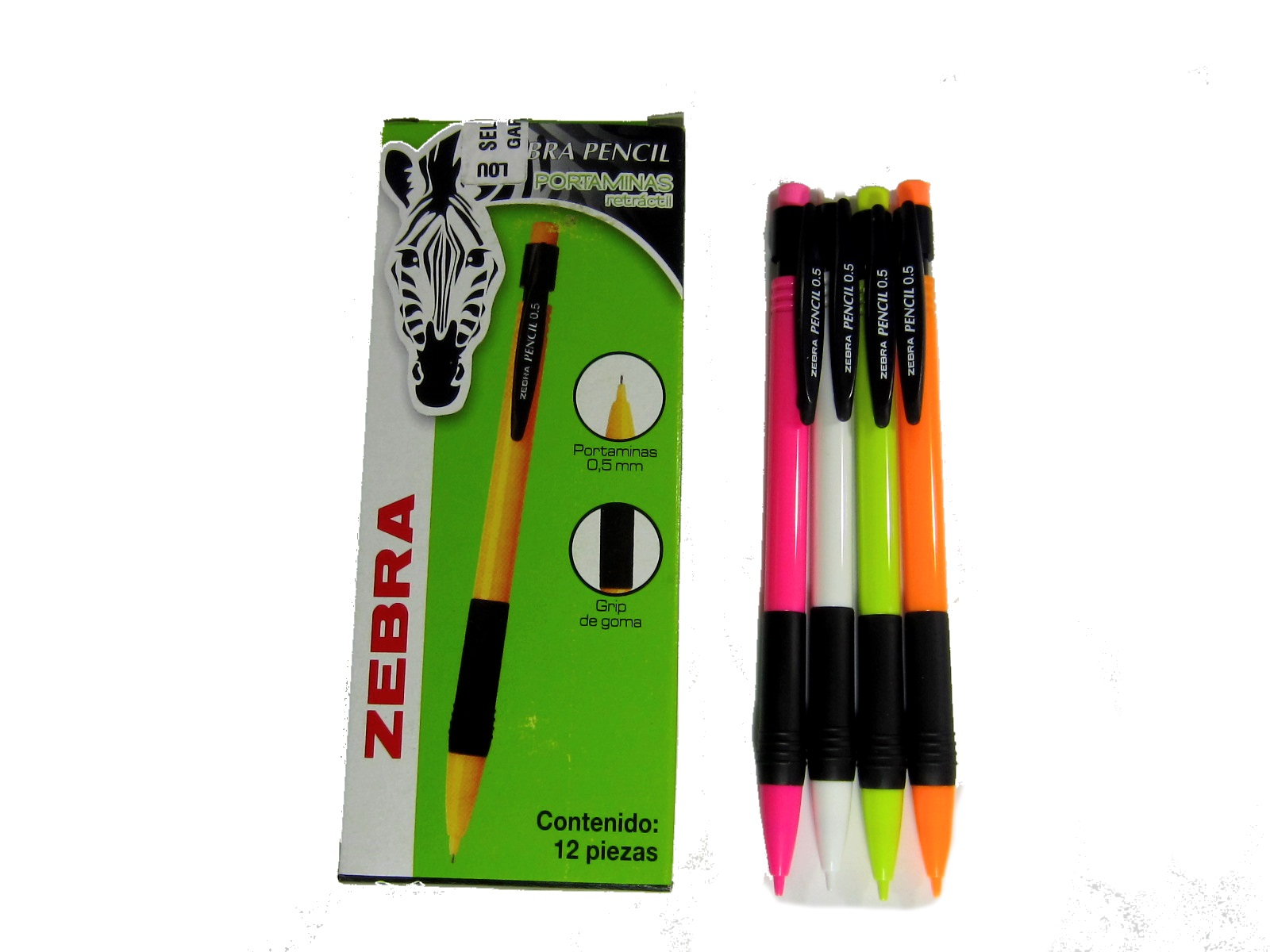LAPICERO ZEBRA PENCIL RETRACTIL 0.5MM VARIOS COLORES 6209